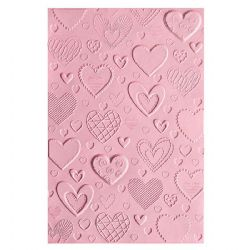 663628 - Sizzix 3-D Textured Impressions Embossing Folder - Hearts by Courtney Chilson